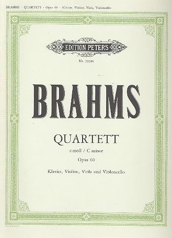 Quartett c-Moll: für Klavier und Streichtrio