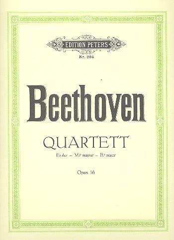 Quartett Es-Dur opus.16: für Klavier und Streichtrio