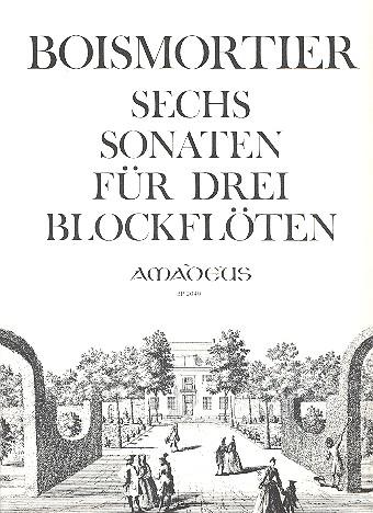6 Sonaten op.7: für 3 Altblockflöten ohne Baß