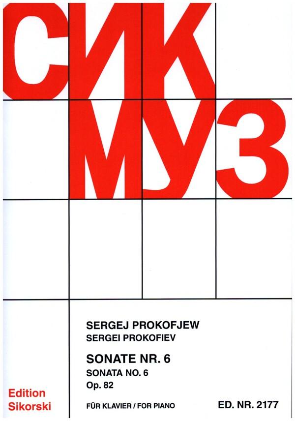 Prokofieff, Serge - Sonate Nr.6 op.82 : für Klavier