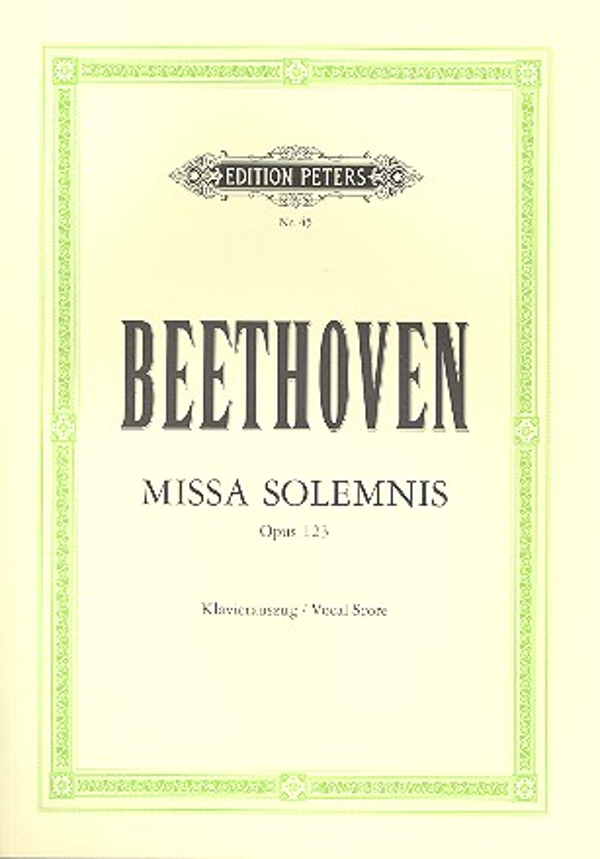 Beethoven, Ludwig van - Missa solemnis  D-Dur op.123 :