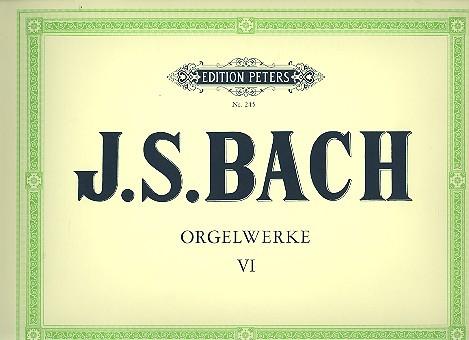 Bach, Johann Sebastian - Orgelwerke Band 6