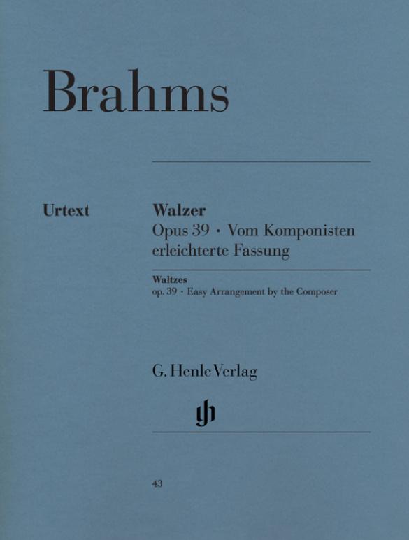 Brahms, Johannes - Walzer op.39 (erleichterte Fassung) :