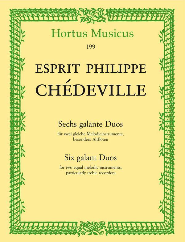 Chèdeville Le Cadet, Nicolas - 6 galante Duos :