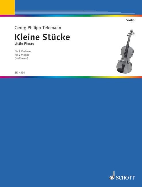 Telemann, Georg Philipp - Kleine Stücke : für 2 Violinen