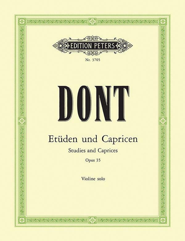 24 Etüden und Capricen opus.35: für Violine