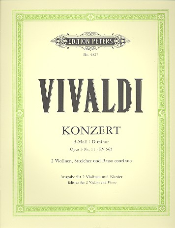 Concerto grosso d-Moll opus.3,11 RV565 für 2 Violinen, Streicher und Bc: