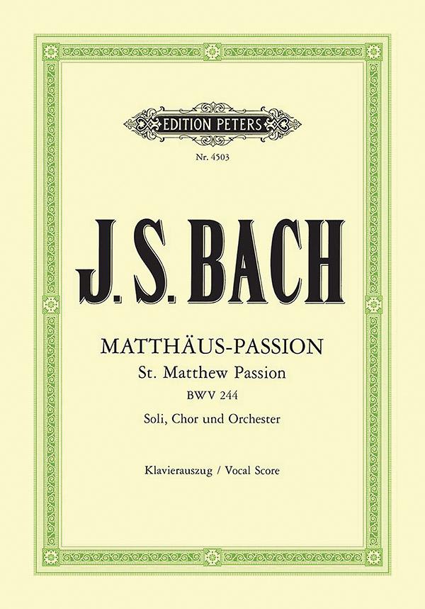 Matthäus-Passion BWV244: für Soli, Chor und Orchester