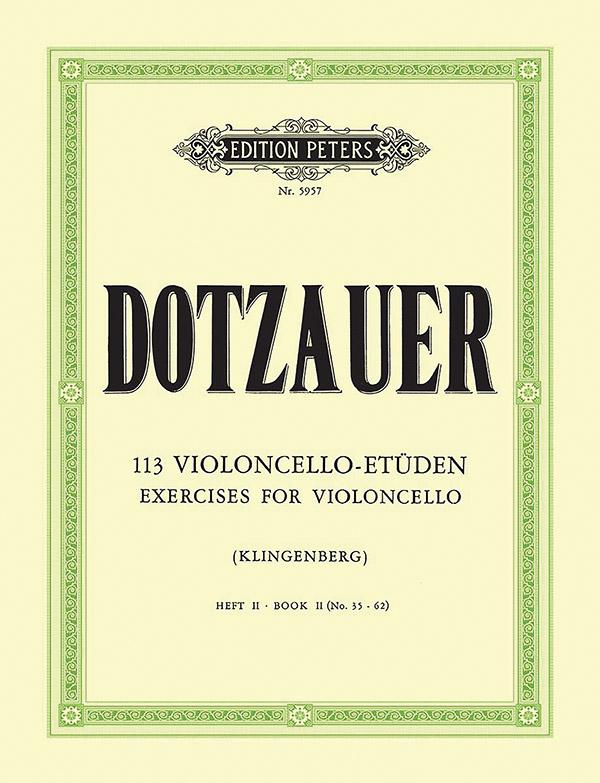 Dotzauer, Justus Johann Friedrich - 113 Etüden Band 2 :