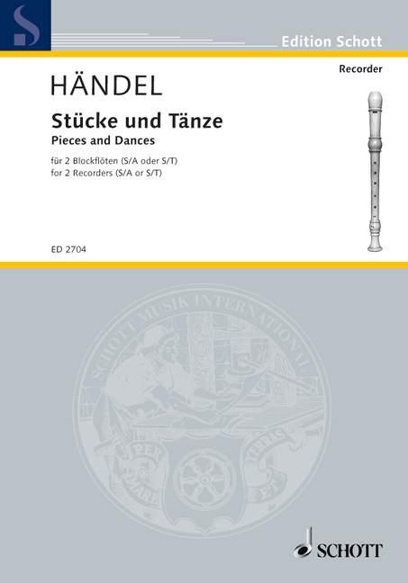 Stücke und Tänze: für 2 Blockflöten im Quint- oder