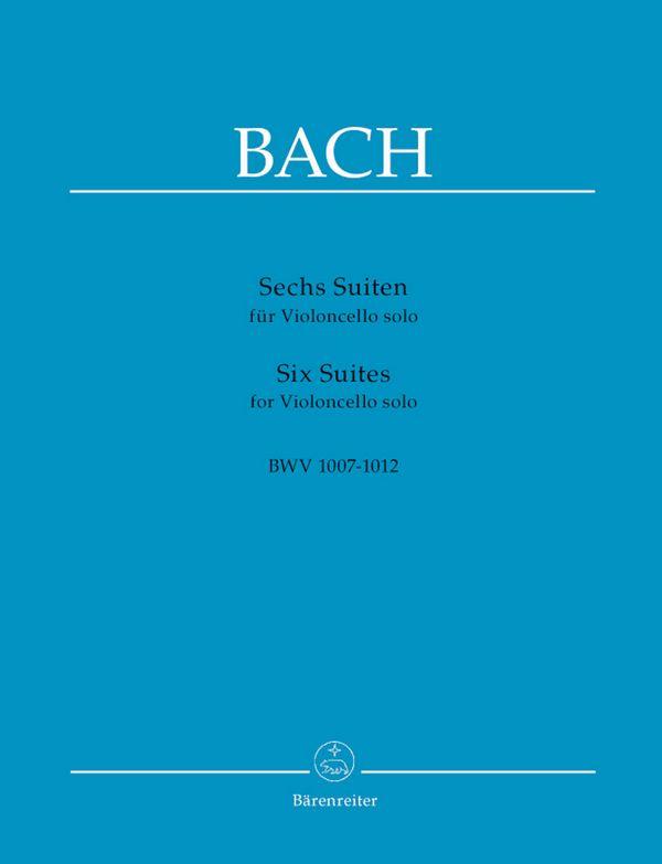6 Suiten BWV1007-1012: für Violoncello solo