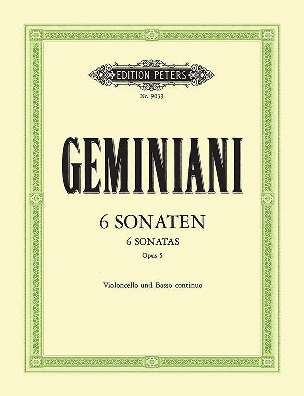 6 Sonaten opus.5: für Violoncello und Klavier