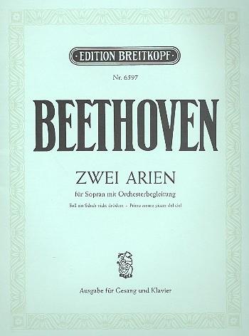 2 Arien für Sopran und Orchester: für Sopran und Klavier