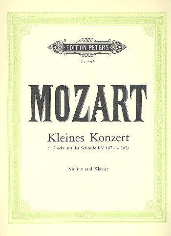 Mozart, Wolfgang Amadeus - Kleines Konzert aus KV185 :