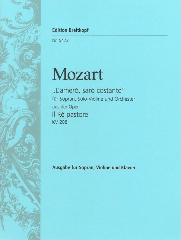 Mozart, Wolfgang Amadeus - l'amero KV208 : für Sopran,
