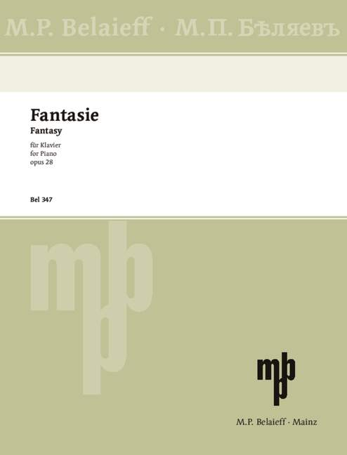 Skriabin, Alexander - Fantasie h-Moll op.28 : für Klavier