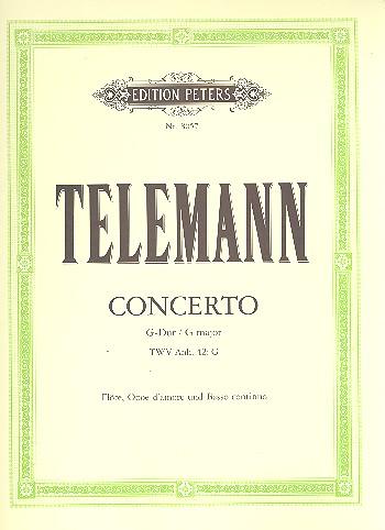 Concerto G-Dur für Flöte, Oboe, Oboe d\