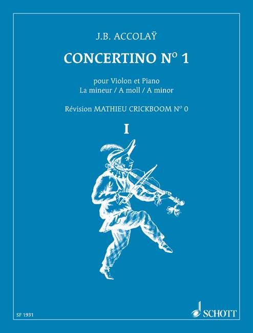 Concertino la mineur no.1: pour violon et piano