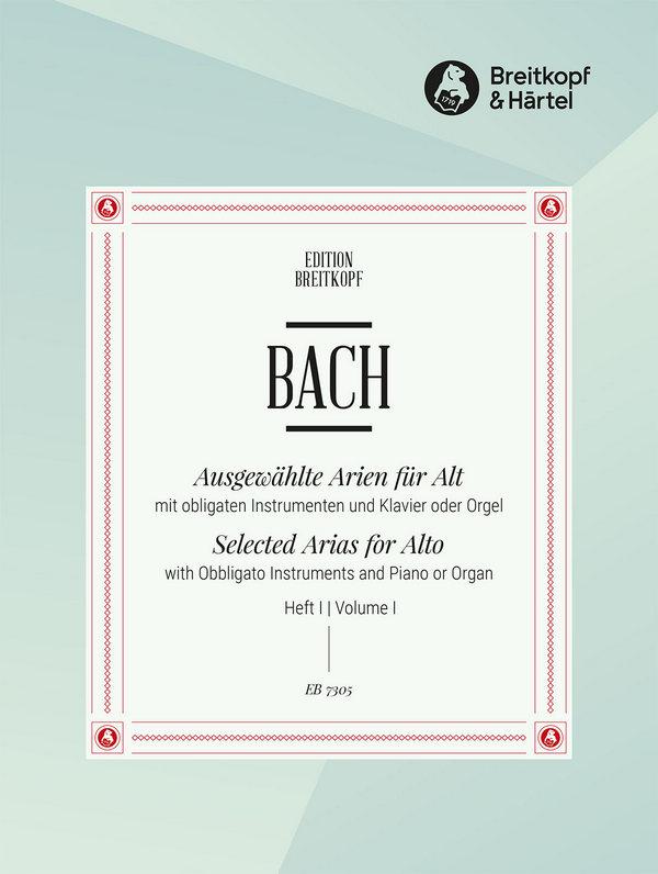 Bach, Johann Sebastian - Ausgewählte Arien Band 1 : für