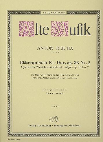 Reicha, Anton (Antoine) Joseph - Quintett Es-Dur op.88,2 : für