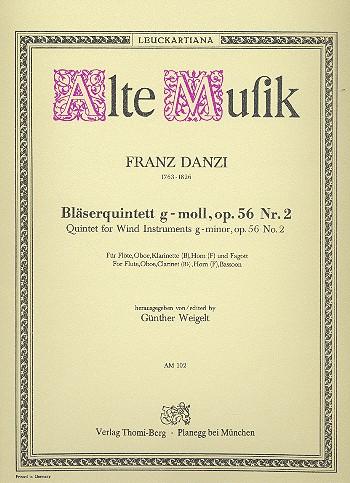 Danzi, Franz - Quintett g-Moll op.56,2 :
