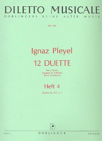 12 Duette Band 4 (Folge 2,3-5): für 2 Flöten