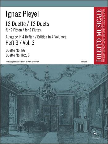 12 Duette Band 3 (Folge 1,6 und Folge 2,2 und 6): für 2 Flöten