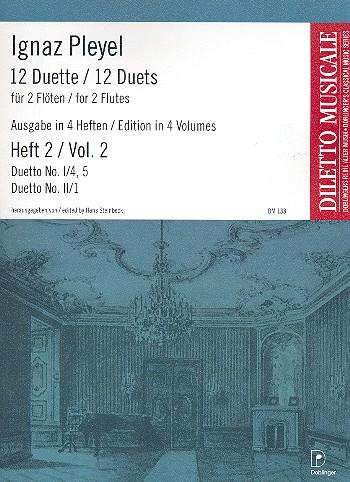 12 Duette Band 2 (Folge 1,4-5 und Folge 2,1): für 2 Flöten