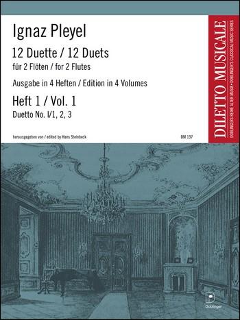 12 Duette Band 1 (Folge 1,1-3): für 2 Flöten, Spielpartitur
