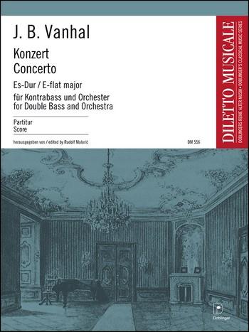 Konzert Es-Dur: für Kontrabaß und Orchester