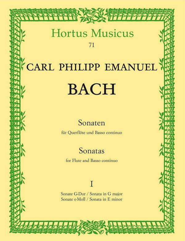Bach, Carl Philipp Emanuel - Sonaten Band 1 : für Flöte und Bc