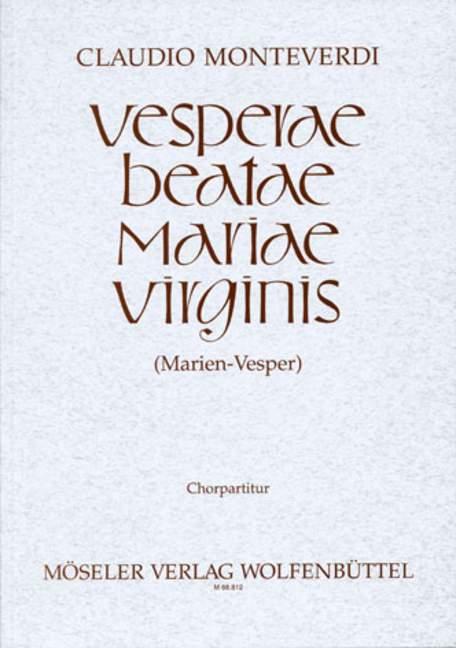 Vesperae beatae mariae virginis: Chorpartitur