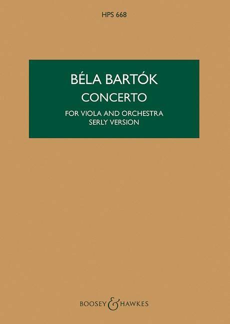 Konzert: für Viola und Orchester Studienpartitur