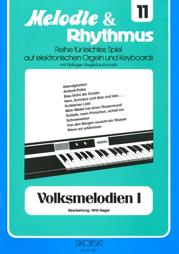 Volksmelodien Band 1: für E-Orgel / Keyboard