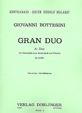 Bottesini, Giovanni - Gran Duo A-Dur op.post. :