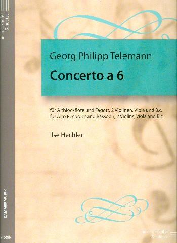 Telemann, Georg Philipp - Concerto a 6 : für Altblockflöte,
