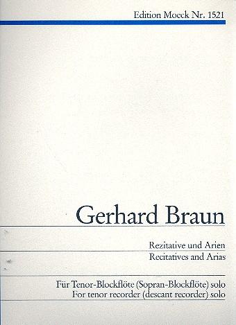 Rezitative und Arien: für Tenorblockflöte solo