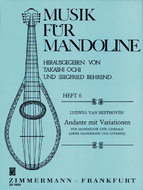 Andante mit Variationen: für Mandoline und Cembalo