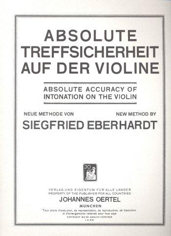 Eberhardt, Siegfried - Absolute Treffsicherheit auf der Violine