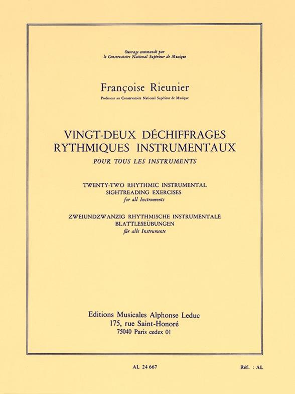 22 déchiffrages rhythmiques instrumentaux pour tous les instruments