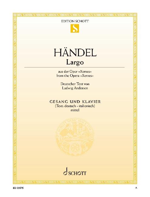 Händel, Georg Friedrich - Largo aus Xerxes : für mittlere
