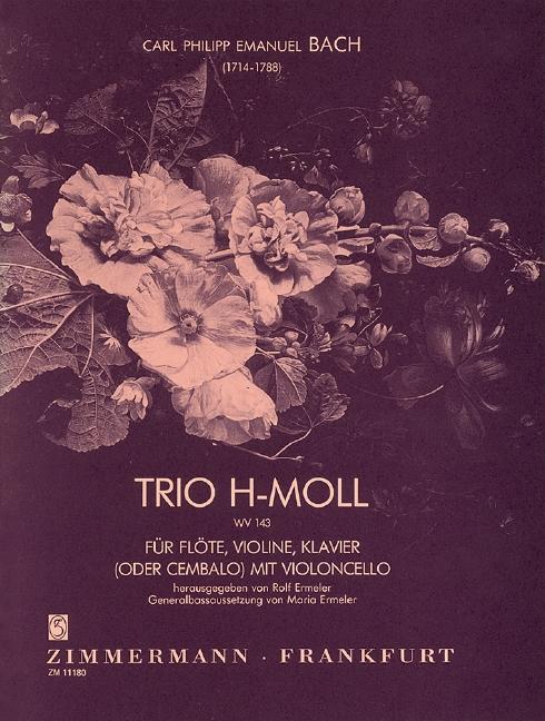 Bach, Carl Philipp Emanuel - Trio h-Moll : für Flöte, Violine