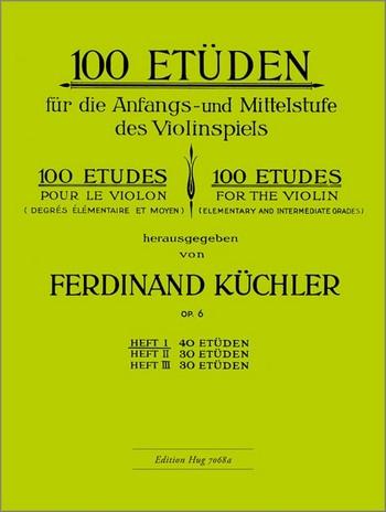 100 Etüden opus.6 Band 1: 40 Etüden für die Anfangs-