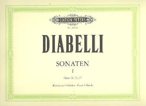 Diabelli, Anton - Sonaten op.32, op.33 und op.37 :
