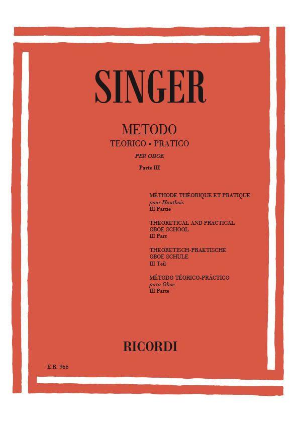 Singer, Sigismondo - Metodo teorico-practico vol.3 :