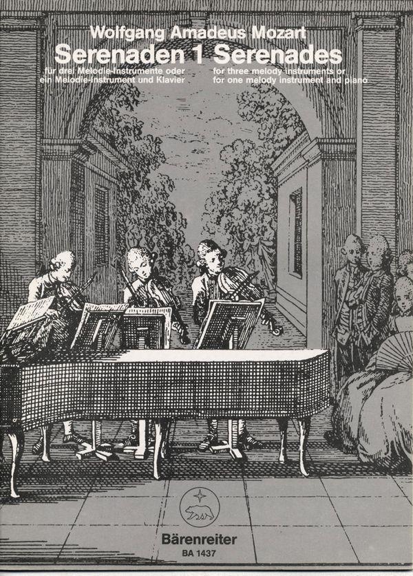 Serenaden Band 1: für 3 Melodie- Instrumente oder Melodie-Instrument