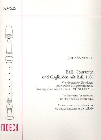 Staden, Johannes - Balli, Couranten und Gagliarden