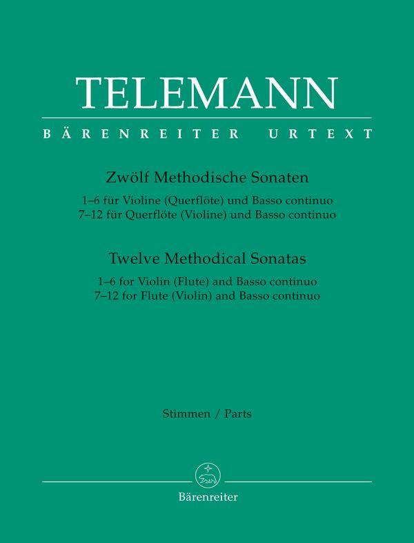 12 methodische Sonaten: für Flöte und Bc