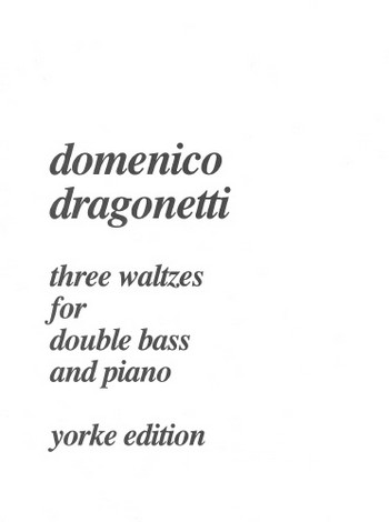 3 Waltzes: for double bass and piano