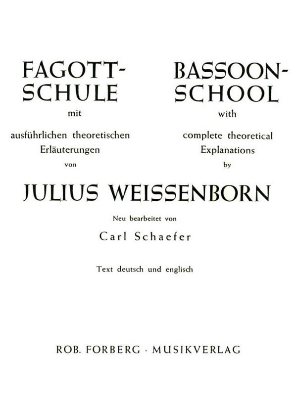 Fagottschule mit theoretischen Erläuterungen